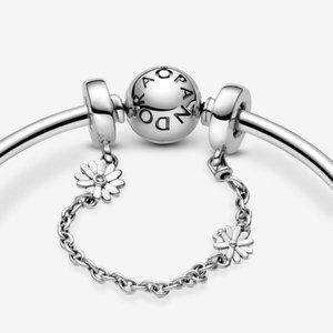 ❤️Pandora Daisy Flower Safety Chain Charm